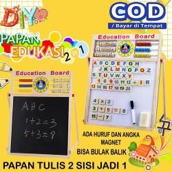 Papan Tulis Magnet Drawing Board Sempoa Alphabet Mainan Edukasi Anak