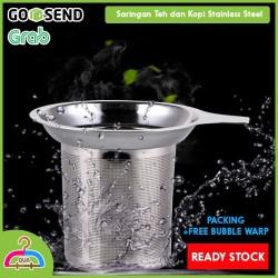 Tea Strainer Saringan Teh Kopi Stainless Steel Metal Filter