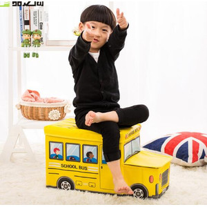 BUS Storage box Tempat Mainan Majalah kursi toys kids organizer Toy