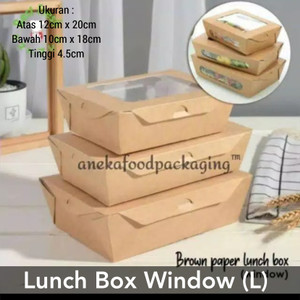 Brown paper kraft lunch box window uk. L