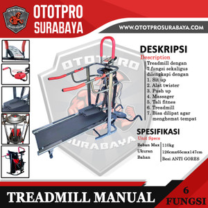 Treadmill Manual 6 Fungsi /Treadmill/Manual/Alat Fitness/6 Fungsi