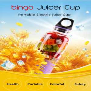Bingo Juicer Blender Mini 4 Mata Pisau Portable 500Ml USB Charger