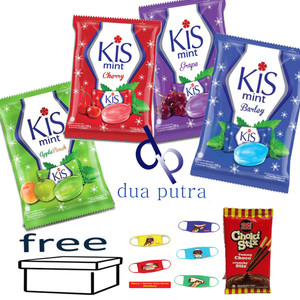 permen kis semua rasa free box ,free masker , free choki stix 1 psc