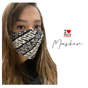 Masker kain Batik Exclusive isi tissue earloop non medis BATIKSONGKET