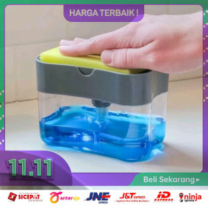 Tempat Sabun Cuci Piring - Soap Pump Sponge Caddy Dispenser Spons Mul