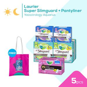 Laurier Super Slimguard + Pantyliner Yassstrology Aquarius - Cancer
