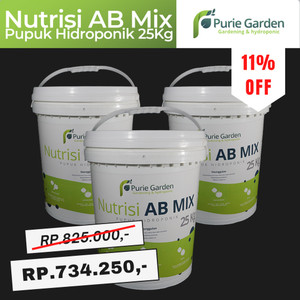 Pupuk / Nutrisi Hidroponik AB Mix - 25Kg 10000Liter (50Liter pekat)