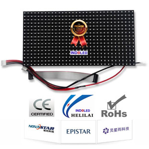P10 RGB SMD Full Color Scan 1/2 (High Contrast) Full Outdoor merek HLL