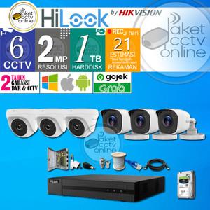 Paket CCTV Hilook 6 Kamera 6CH 6 Channel Lengkap Instalasi Dipandu