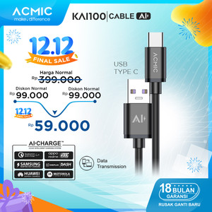 ACMIC KAi100 AiCharge Kabel Data USB Type C Fast Charging 3A + 5A VOOC