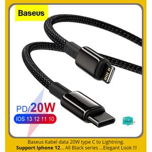 BASEUS Kabel Data Iphone 12 Type C To Lightning PD 20W Fast Charging
