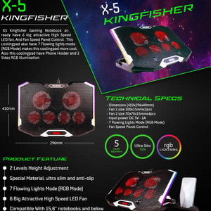 Cooling Pad Gaming 6 fan NYK X5