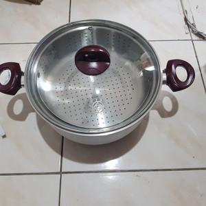 Cooker Steamer Alumunium 28 cm. Penanak Nasi Serbaguna by SUPRA