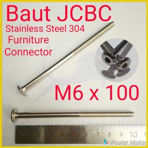 Baut JCBC M6 x 100 SUS304