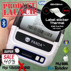 LABEL STICKER PRINTER THERMAL PRJ-80BL BLUETOOTH /PENGIRIMAN TOKOPEDIA