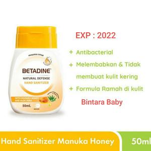 Betadine Hand sanitizer Manuka Honey 50ml Pembersih Tangan Antiseptik