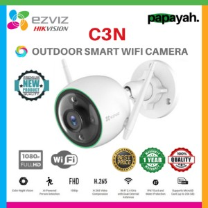 EZVIZ C3N 1080P COLOR NIGHT VISION OUTDOOR IP CAM SMART IR WIRELESS
