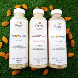 Paket 6 Botol Almond Milk EXTRA CHIA & OAT 250ml made by order