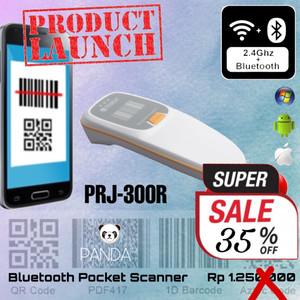 PRJ-300R 1D/2D Pocket Portable Barcode Scanner (USB+Bluetooth+2.4G)