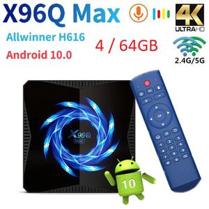 Android TV Box X96Q MAX 4GB 64GB Bluetooth Miracast Resolusi 4K