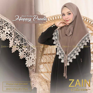 jilbab/hijab/bergo/kerudung instant masker zain happy prada jersey