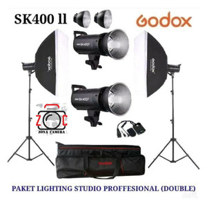 Paket Godox SK400II Lampu Studio Photo Lighting SK400 Versi 2 Mark II