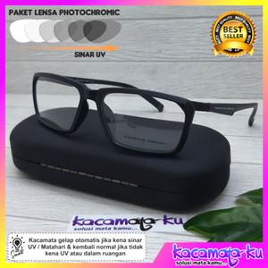 Kacamata Photocromic Baca Pria Minus Porsche Design 8369 Sporty Lentur