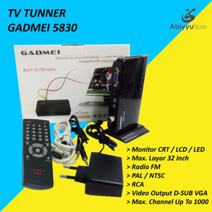 TV Tunner / TV Tuner Gadmei 5821 For Monitor CRT/LCD/LED