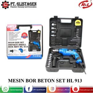 Mesin Bor Beton Impact Drill Set 13mm Box Set HL 913