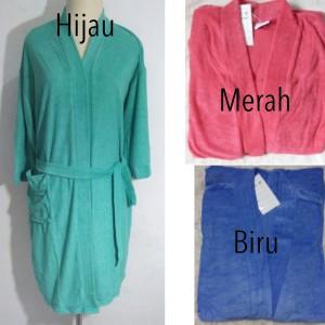 baju handuk kimono mandi dewasa warna polos