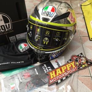 Helm Fullface AGV Pista Mugello Mirror 2018 limited edition ML Italy