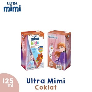 Susu Ultra Mini Kids 125ml Cokelat / Coklat. isi 125ml x 40. MURAH !!