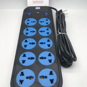 STOP KONTAK ON OFF WITH USB 10 LUBANG KABEL 3M 3 M 3METER 3 METER