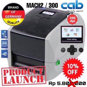 CAB MACH2/300 THERMAL TRANSFER RIBBON BARCODE LABEL PRINTER 300DPI