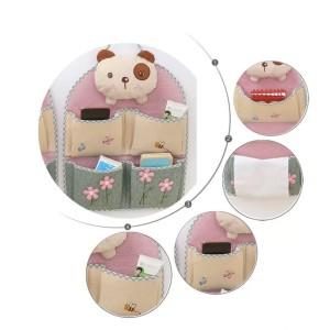 High Quality Pouch 3D Cute Bear Gantung 4 Sekat, Hanging Storage Bag
