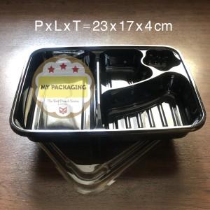 Tray Bento / Bento Box / Mika Bento + Tutup (isi 50set)