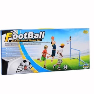 Mainan Anak Mainan Edukasi Gawang Bola dan Ring Basket 2in1 No. LT-102