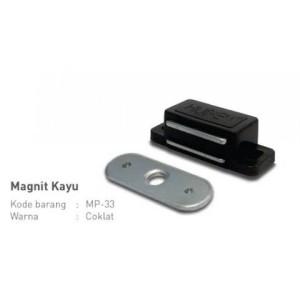 HUBEN MP33 Magnit Magnet Pintu Lemari Kayu Coklat/Putih Magnetic Catch