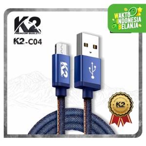 Kabel Data DENIM K2 PREMIUM QUALITY K2-C04 Fast Charging MICRO USB