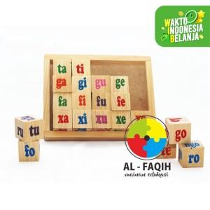 Mainan edukatif kubus suku kata