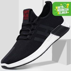 Marelow - Sepatu Sneakers Pria Casual Import - SNK7044 - Black, 44