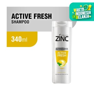 Zinc Shampoo Active Fresh Botol 340 ML