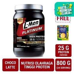 L-Men Platinum Choco Latte 800gr FREE Lokalate Kopi Alpukat (10 Sch)