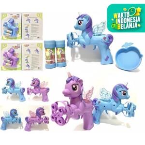 Mainan Bubble Gun Unicorn Pony 4 Mata / PISTOL GELEMBUNG UDARA