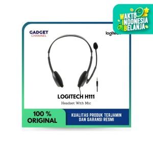 Headset Logitech H111 - Original 100% - Garansi Resmi 2 Tahun