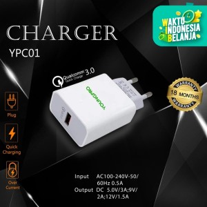 Youngpro YPC-01 - Adapter Charger Youngpro Fast Charging Qualcomm 3.0