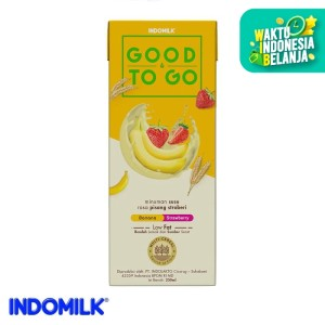Indomilk UHT Good To Go Pisang Stroberi 250 ml X 4 Pcs