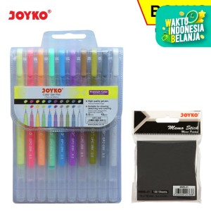 Color Gel Pen Pena Jel Warna Joyko GPC-299 Premium Color 10Warna 0.5mm