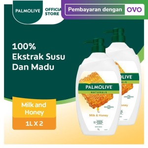 Palmolive Milk & Honey Shower Gel/Sabun Mandi Susu 1L - Twinpack