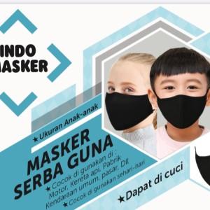 Indo Masker Masker Serba Guna - Dapat di cuci - Ukuran Kecil/Anak-Anak
